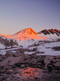 Wanda Pass from the north at sunset