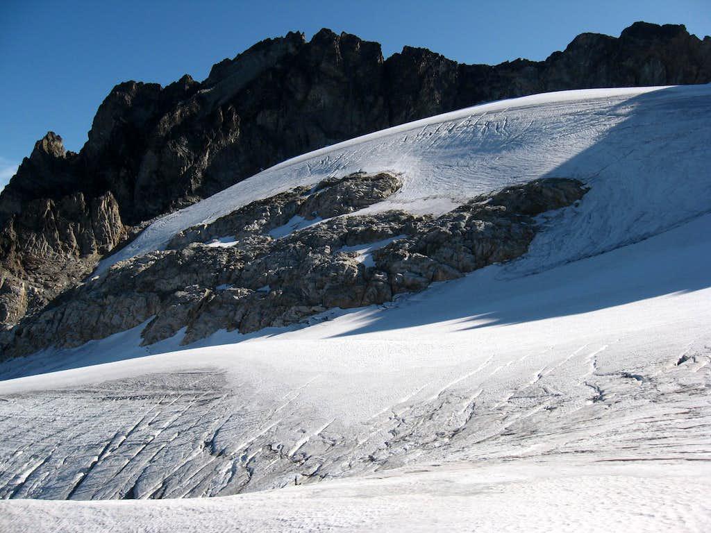 Logan's summit and the Fremont Glacier