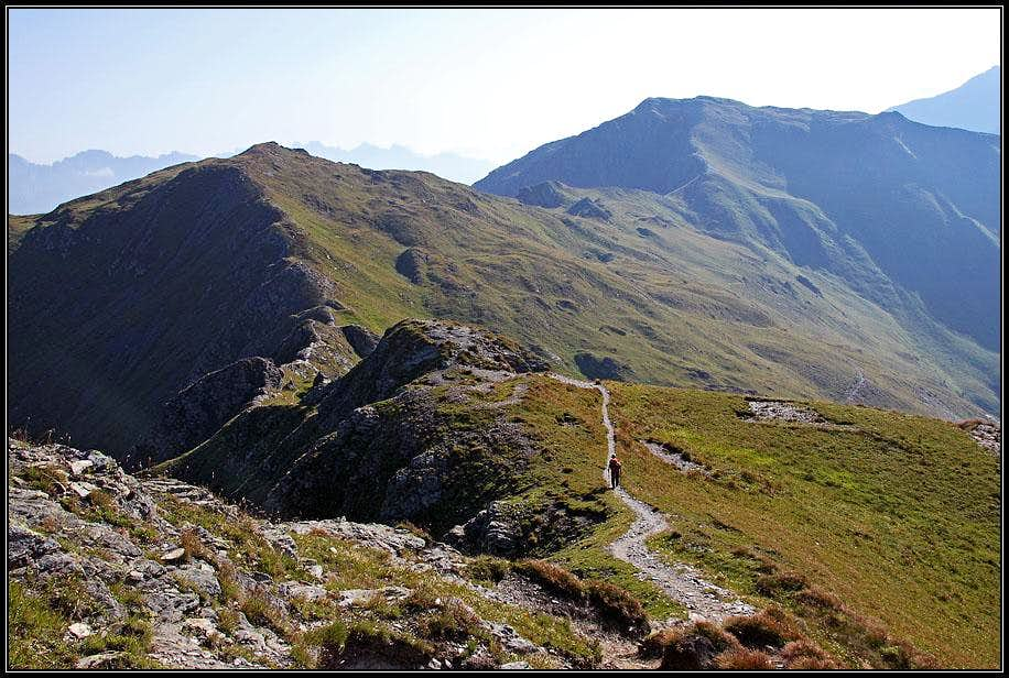 Towards Reiterkarspitz / Monte Cecido