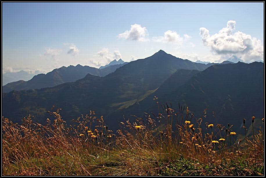 Hochspitz / Monte Vancomun from Reiterkarspitz / Monte Cecido