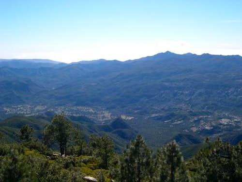 Cone Peak (right of center)...