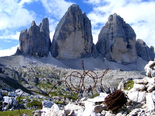 WWI Wire around the Tre Cime
