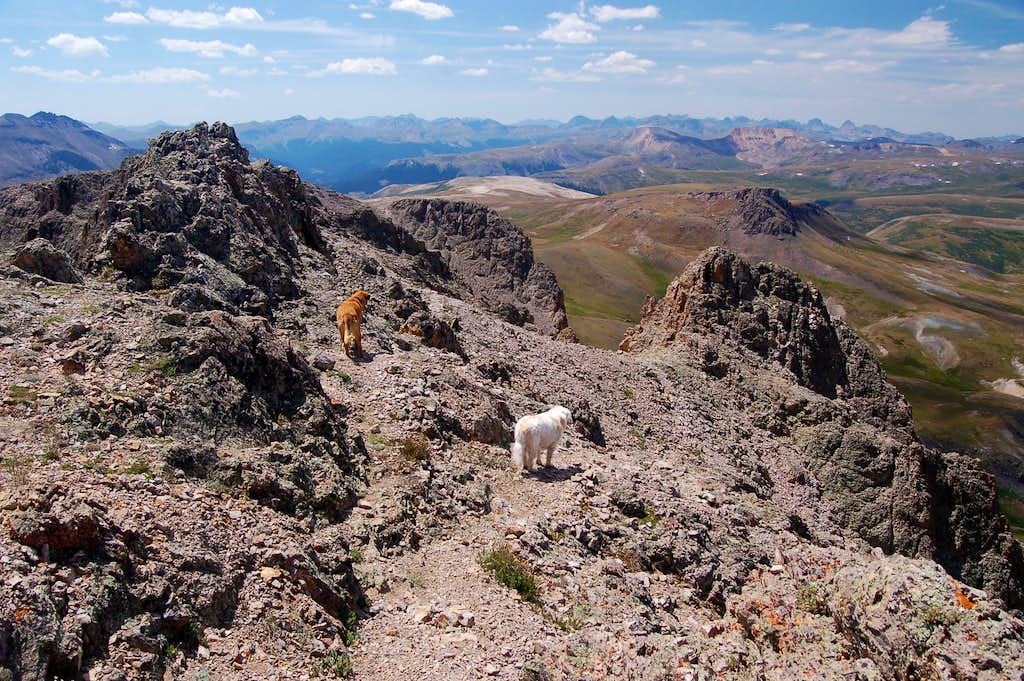Descending Half Peaks hourglass ridge