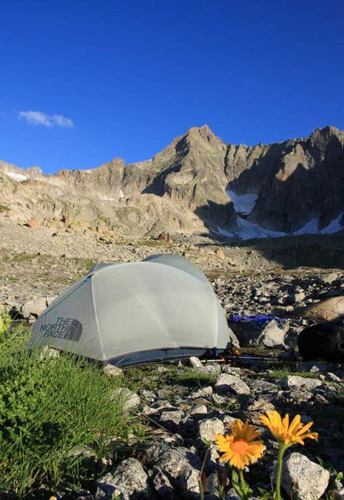 camp with a view photos diagrams topos summitpost. Black Bedroom Furniture Sets. Home Design Ideas