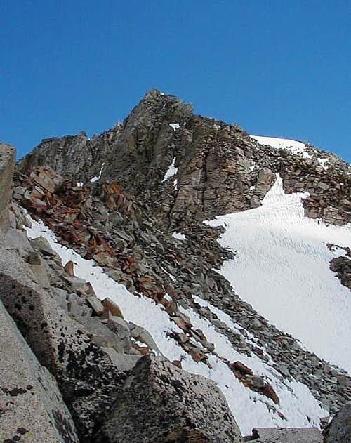 Steep section of the ridge...