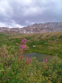 Mount Buckskin with pond