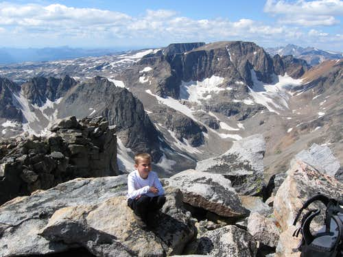 Summit of Whitetail Peak