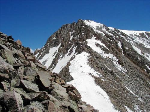 Section of the east ridge...