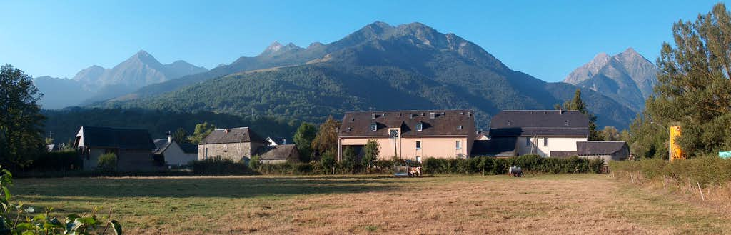 Mountain panorama from Vielle Aure