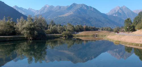 Mountain panorama from in Vielle Aure