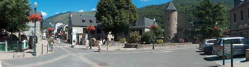 Panorama of the centre of the touristic resort of Saint Lary
