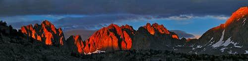 Dusy Basin alpenglow