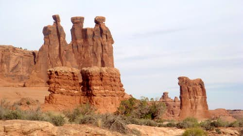 Three Gossips and Sheep Rock