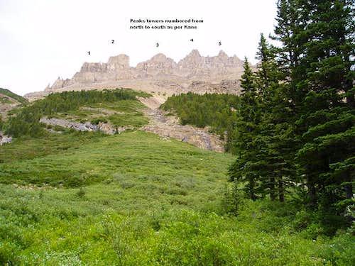 Dolomite Peak 3 & 4 Scramble route TR, Banff