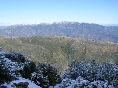 Snow on Pimkolam, viewed from...
