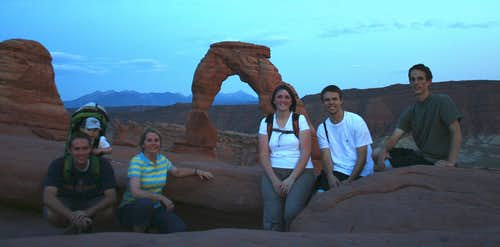 Delicate Arch family pic