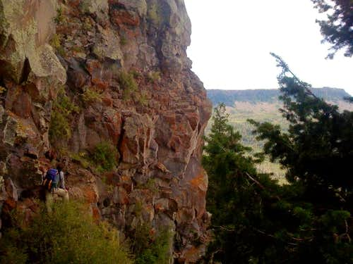 Mountaineering route on Grand Mesa