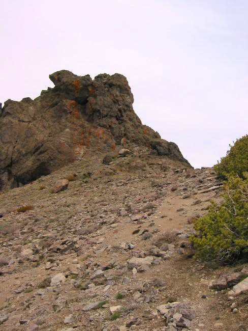 Red Lake Peak summit block...