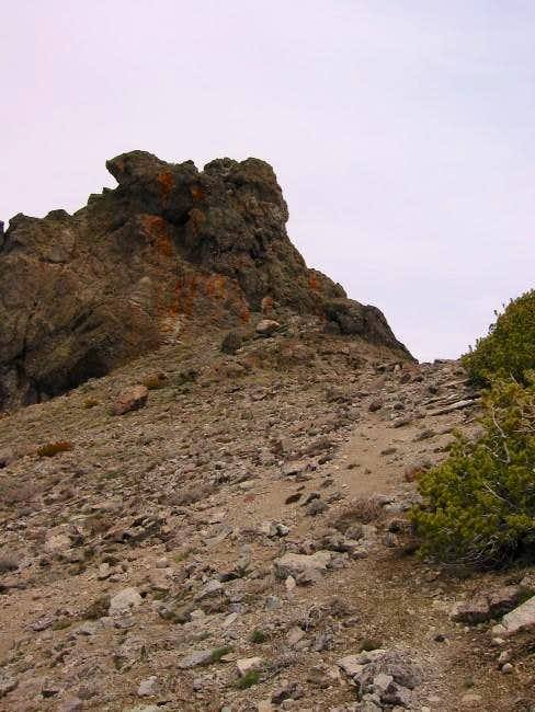 Red Lake Peak summit block...