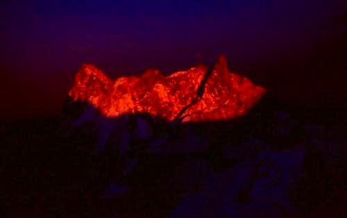 Sunset on Mont Blanc du Tacul...