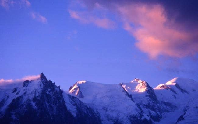 Sunset on the Mont Blanc...