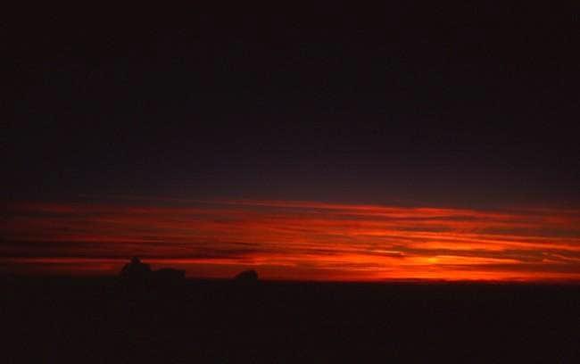 Sunset taken close to the...