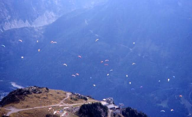 Paragliding over Chamonix - a...