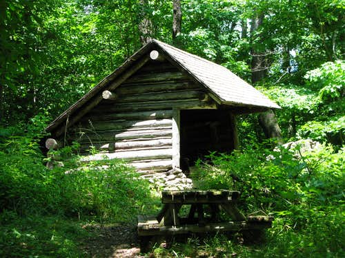 the Belleayre Mountain lean-to
