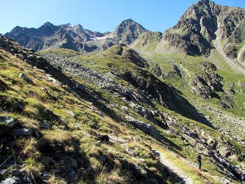The Hochschober (3242m) left