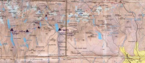Cordillera Real, Bolivia Topographical Map