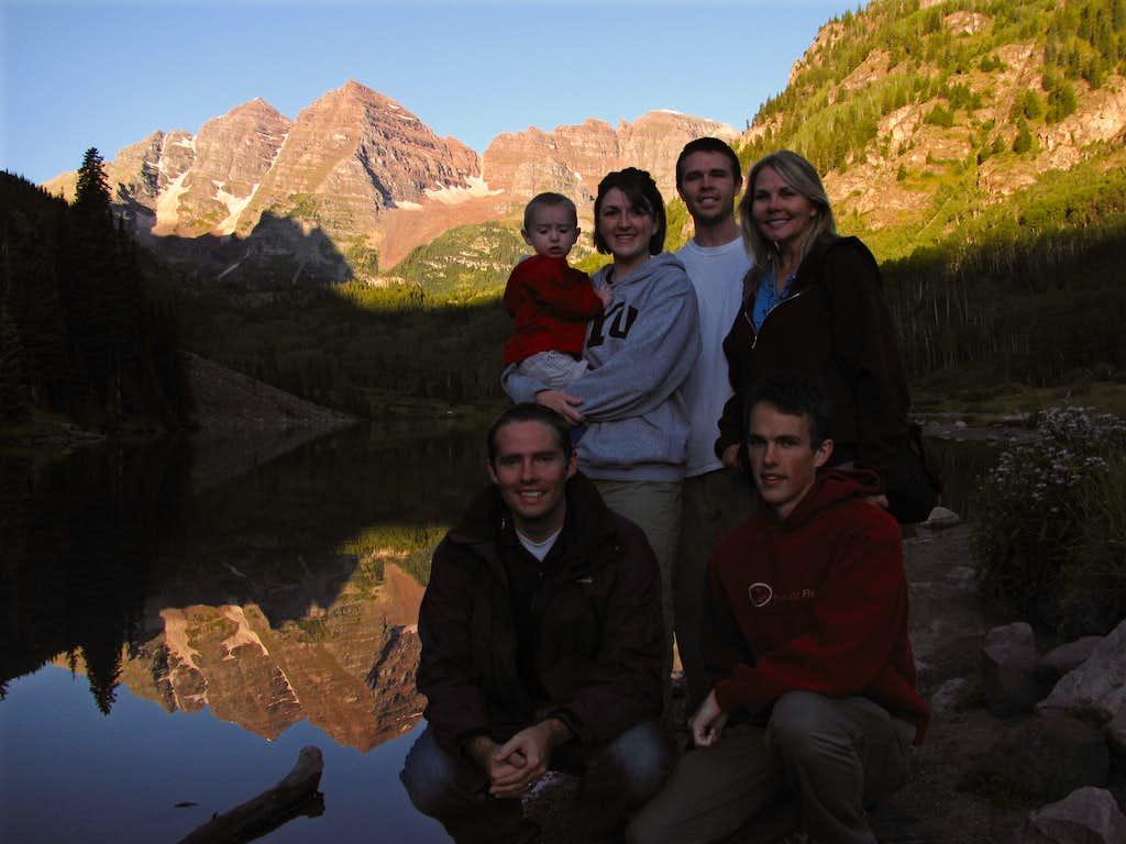 Maroon Lake family pic