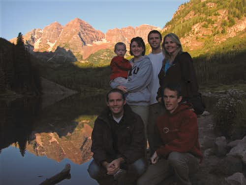 Maroon Lake family pic