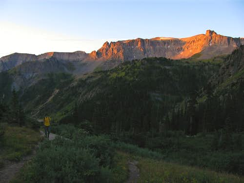 Alpenglow in Yankee Boy Basin
