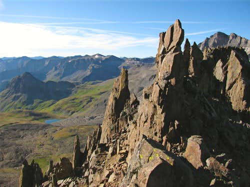 Southwest Ridge spires