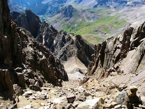 Sneffels standard route gully