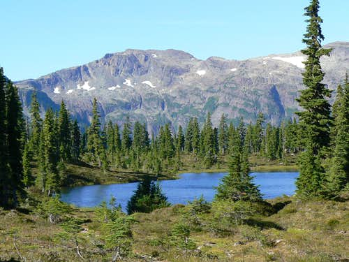 Mt Frink from Hairtrigger Lake