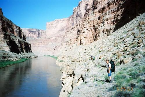 Hiking along Cataract Canyon