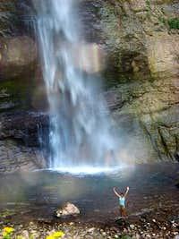 under Skakavac waterfall