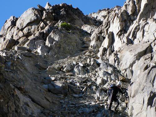 Gully to Notch below Mt. Humphreys (13,986')