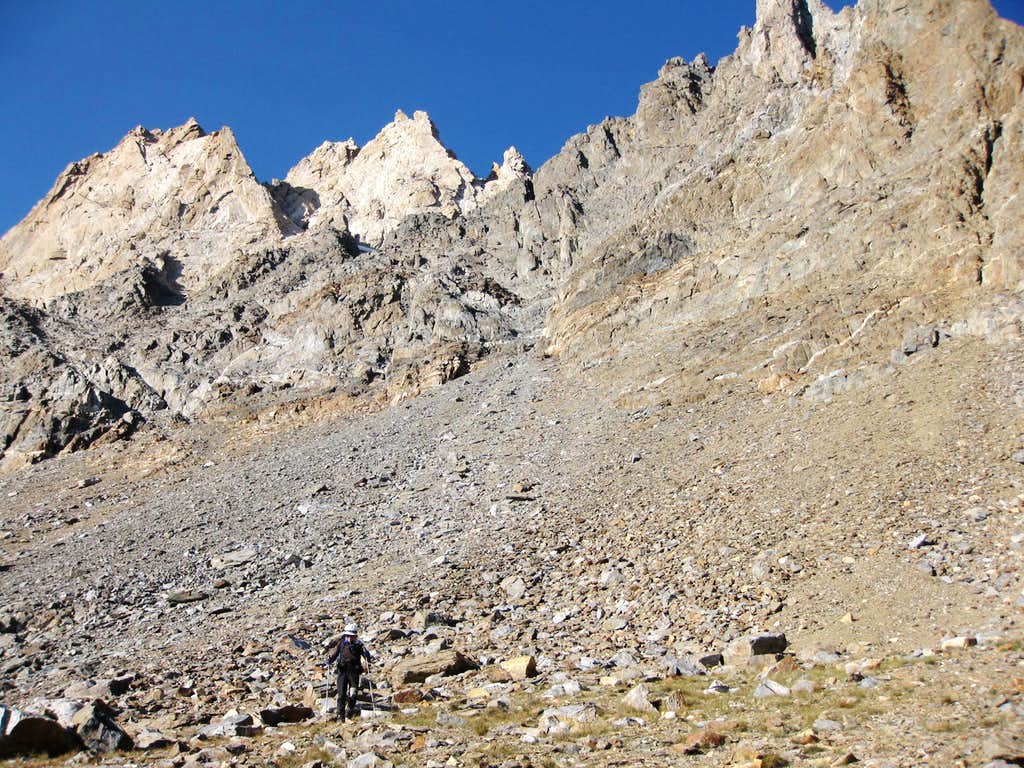 Up Scree Slope Toward Mt. Humphreys (13,986')