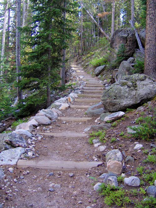 Staircase on Ypsilon Lake Trail