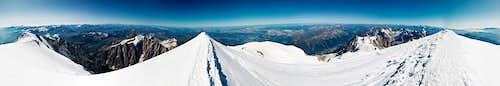 Mont-Blanc 360 summit panorama