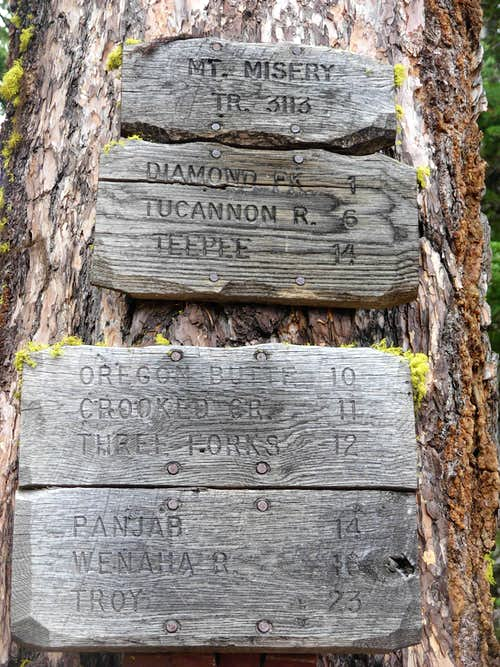 Mount Misery Trail To Diamond Peak