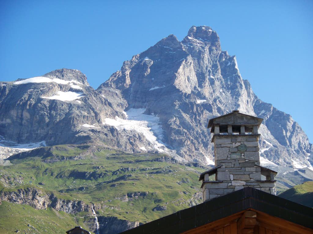 View of The Italian Ridge from Cervinia