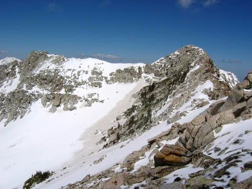 The summit as viewed during...
