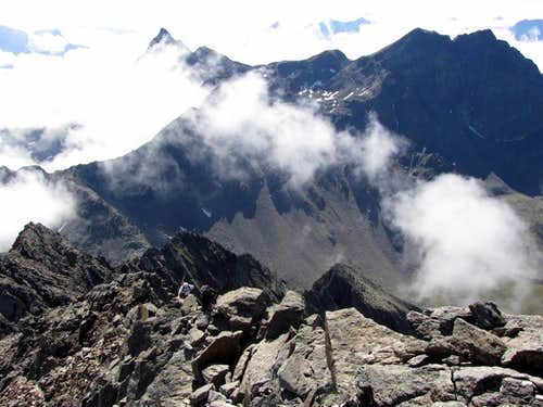 The south summit ridge