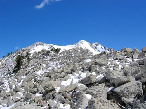 West ridge of Red Baldy,...