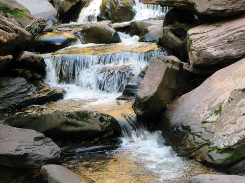 stream created by the falls