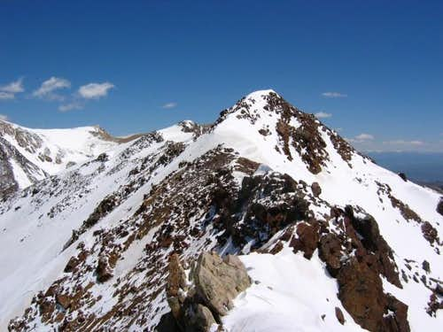 Looking east along the summit...