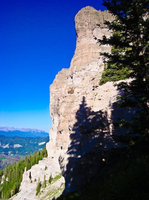 Outcrop of Courthouse Mountain
